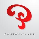 Abstrakte Logoschablone des Buchstaben P Lizenzfreie Stockfotografie