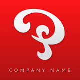 Abstrakte Logoschablone des Buchstaben P Stockbild