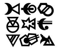 Abstrakte Logoschattenbilder für Ihr Design Stockbild