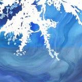 Abstrakte lokalisierte Zeichnung des Aquarellpapier-Spritzens Formen Stockfotos
