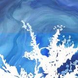 Abstrakte lokalisierte Zeichnung des Aquarellpapier-Spritzens Formen Stockfoto