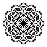 Abstrakte Malbuch-Mandala Kreisen Sie Spitzeverzierung, rundes dekoratives Muster, Schwarzweiss-Design ein vektor abbildung