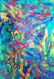 Abstrakte Malerei Stock Abbildung