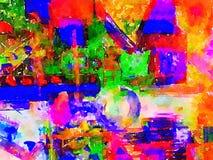 Abstrakte Malerei auf Papier Stockbilder