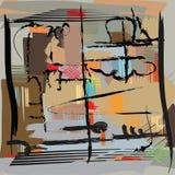 Abstrakte Malerei der modernen Kunst Lizenzfreies Stockbild