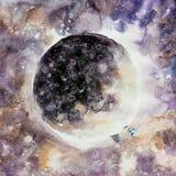 Abstrakte Malerei der Mondphase Lizenzfreies Stockbild