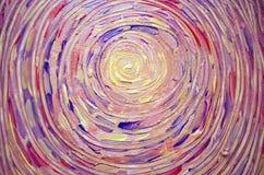 Abstrakte Malerei der Sonne, schönes buntes Licht auf Segeltuch Illustration der hellen glänzenden Sonne Anschlagmalereisonne Stockfotografie