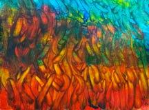 Abstrakte Malerei wenn das Feuer und das Wasser Stockbilder