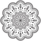 Abstrakte Mandala Design Lizenzfreie Stockbilder