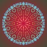 Abstrakte Mandala Digital-Design mit flippigen Linien Stockfotografie