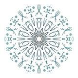Abstrakte Mandala Digital-Design mit flippigen Linien lizenzfreie stockbilder