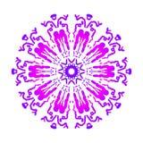 Abstrakte Mandala Digital-Design mit flippigen Linien lizenzfreie stockfotografie