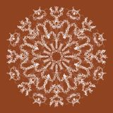Abstrakte Mandala Digital-Design mit flippigen Linien stockfoto