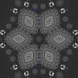 Abstrakte Mandalaentwurfsschablone stock abbildung