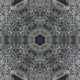 Abstrakte Mandalaentwurfsschablone stockfoto