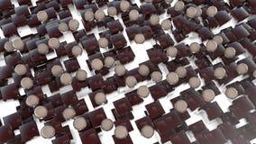 Abstrakte Marmorbereiche und Würfel Stockfotos