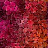 Abstrakte Marmorsteinige Mosaikplastikfliesen masern Hintergrund mit schwarzem Bewurf - klare rote rosa purpurrote orange Farben lizenzfreie stockbilder