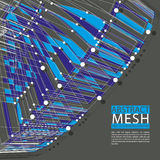 Abstrakte Maschenvektorillustration, Technologiethema Stockfoto