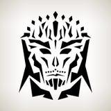 Abstrakte Maske, Stammes- Art Stockfotografie