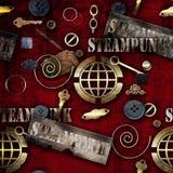 Abstrakte mechanische Elementschmutz-Hintergrundillustration Stockbilder