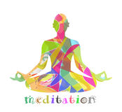 Abstrakte Meditation Stockbild