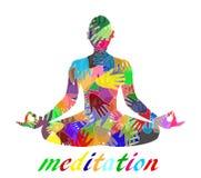 Abstrakte Meditation Stockfoto