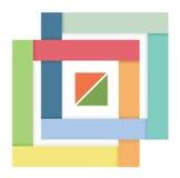 Zusammenfassungsstreifen in Form eines Quadrats Lizenzfreies Stockfoto
