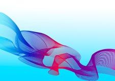 Abstrakte mehrfarbige Wellen auf einem blauen Hintergrund stock abbildung