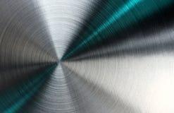Abstrakte metallische Beschaffenheit mit blauen Strahlen. Stockfoto