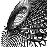 Abstrakte metallische Drähte Stockfotografie