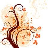 Abstrakte mit Blumenabbildung Lizenzfreies Stockfoto