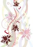 Abstrakte mit Blumenauslegung Lizenzfreies Stockfoto