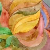 Abstrakte mit Blumenfarbe des Aquarells Stockfotografie
