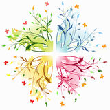 Abstrakte mit Blumenhintergründe mit Basisrecheneinheit. Stockbild