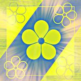 Abstrakte mit Blumenillustration Lizenzfreie Stockfotografie