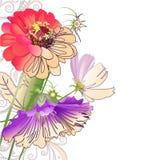 Abstrakte mit Blumenzusammensetzung Stockfoto