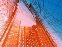 Abstrakte moderne Architektur vektor abbildung