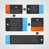 Abstrakte moderne dunkle infographics Wahlen Stockbilder