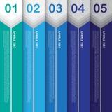 Abstrakte moderne Fahne für Design und kreative Arbeit, Vektor Illu Lizenzfreies Stockbild