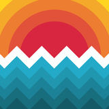 Abstrakte modische Schablone mit verschiedenen geometrischen Formen und Beschaffenheiten Lizenzfreies Stockfoto