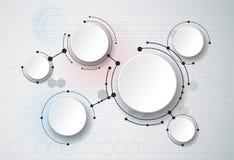 Abstrakte Moleküle und 3d Papier, integrierte Kreise Leerstelle für Ihr Design vektor abbildung