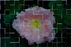 Abstrakte Mosaikblume Lizenzfreies Stockfoto