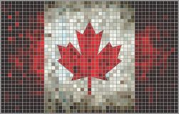 Abstrakte Mosaikflagge von Kanada Stockbild