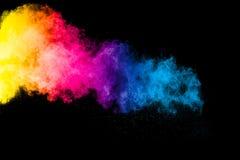 Abstrakte multi Farbpulverexplosion Stockbild