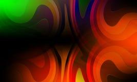 Abstrakte multi Farbwelle und gebogener Hintergrund, Wiedergabe 3D lizenzfreie abbildung