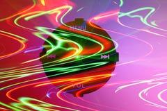 Abstrakte musikalische Kontrollen Stockbild