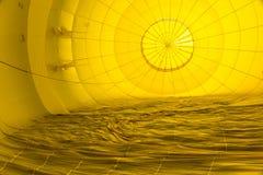 Abstrakte Muster innerhalb eines Heißluft-Ballons stockfotografie