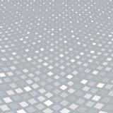 Abstrakte Musterhalbtonperspektive des weißen Quadrats auf grauem backg Lizenzfreie Stockfotos