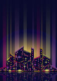 Abstrakte Nachtstadt stock abbildung