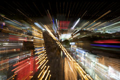 Abstrakte Nachtstraße Stockbilder